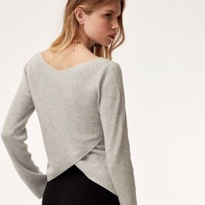 Aritzia Babaton Kitano Cross Back Sweater